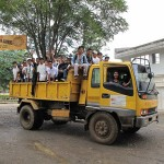 Their &quot;cool wheels&quot;--a dump truck--is a gift provided by the Office of the Mayor that helped them get to the venue from their far-away upland communities.